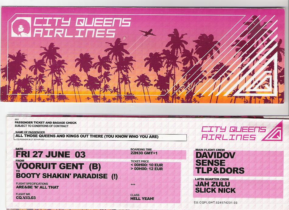 City Queens - Airlines - Fri 27-06-03, Kunstencentrum Vooruit