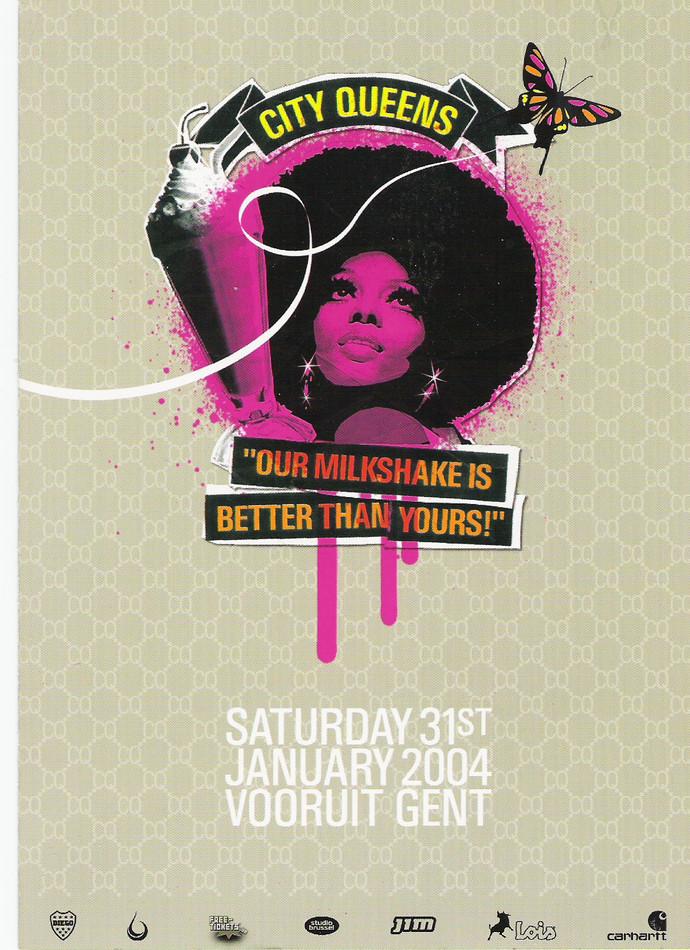 City Queens - Milkshake - Sat 31-01-04, Kunstencentrum Vooruit