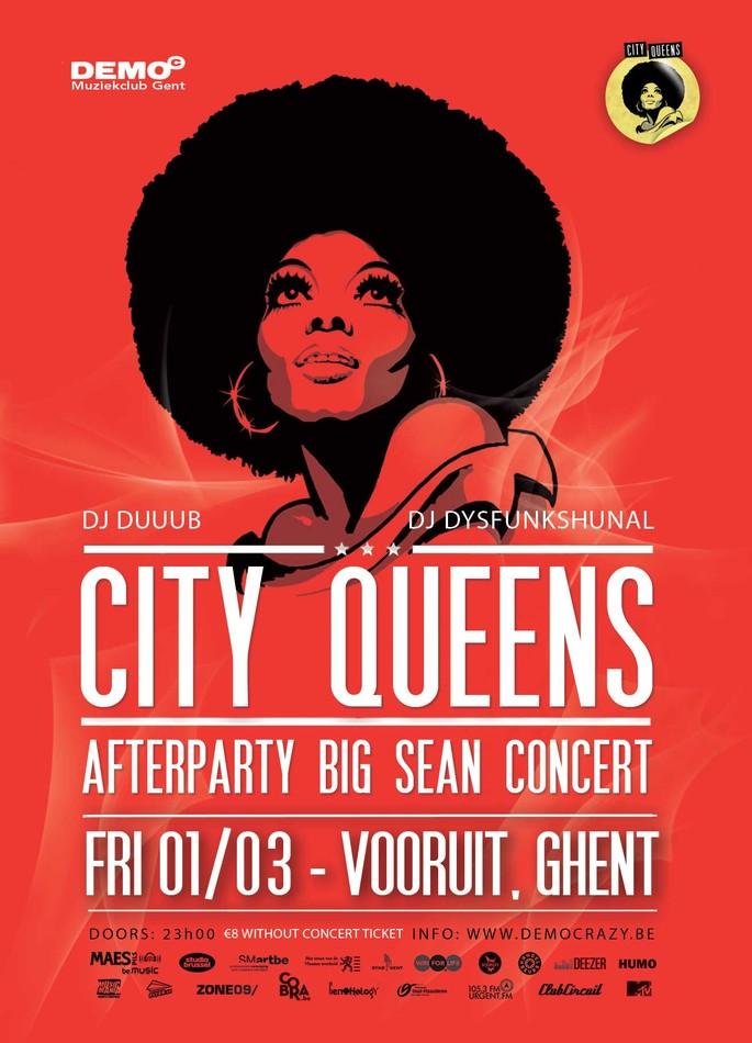 City Queens Afterparty Big Sean Concert - Fri 01-03-13, Kunstencentrum Vooruit