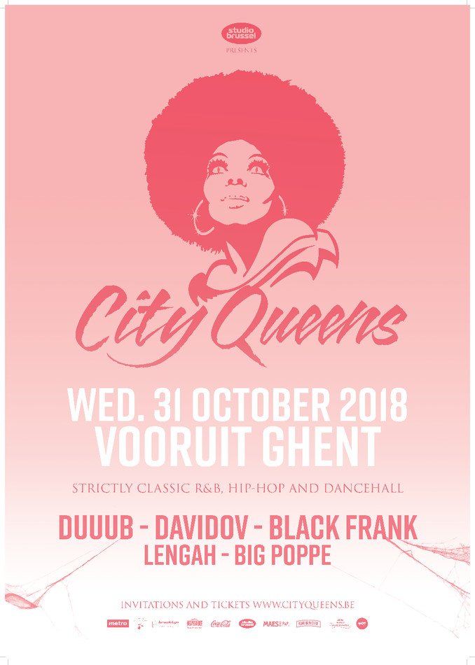 City Queens - Trick or Treat - Wed 31-10-18, Kunstencentrum Vooruit